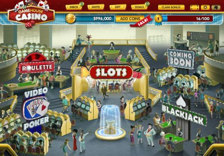 The GameHouse Casino lobby on