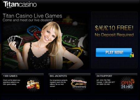 TitanCasino offering бё10 free