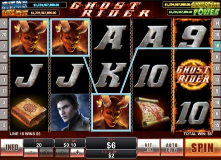 Playing ghost rider slots