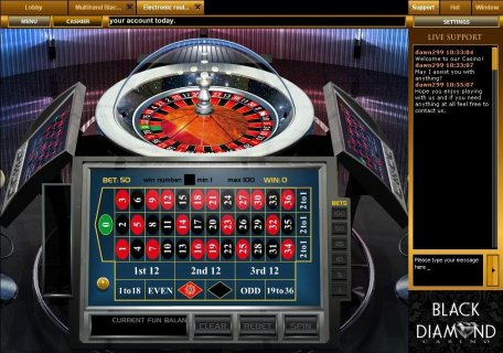 Roulette casino diamond