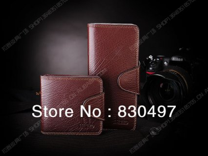 Leather wallet with card slots