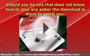 Free Poker Games Download For PC