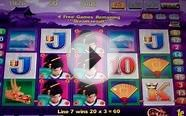 Geisha Deluxe Slot Machine Bonus - 10 Free Games with
