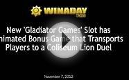 WinADay New Gladiator Games Slot and Slots Tournament